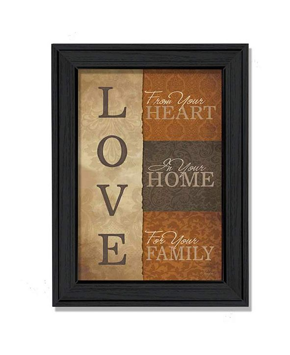 "Trendy Decor 4U Love By Lauren Rader, Printed Wall Art, Ready to hang, Black Frame, 15"" x 19"""
