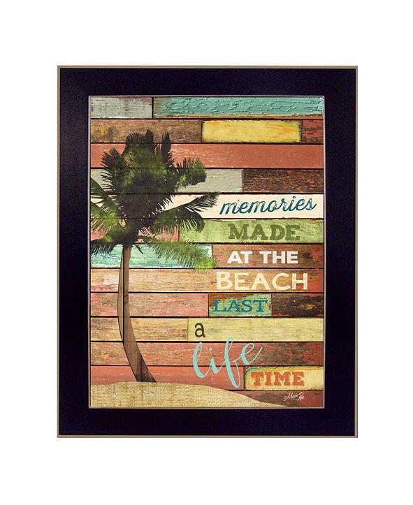 "Trendy Decor 4U Beach Memories By Marla Rae, Printed Wall Art, Ready to hang, Black Frame, 14"" x 18"""