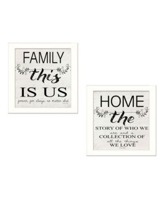 Family 2-Piece Vignette by Cindy Jacobs, Black Frame, 14