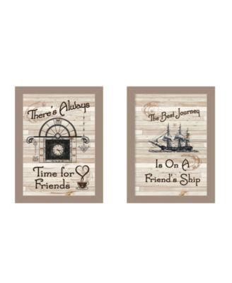 Friendship Journey 2-Piece Vignette by Millwork Engineering, Black Frame, 10