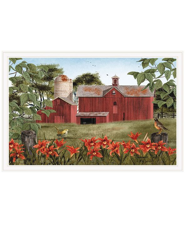 """Trendy Decor 4U Summer Days by Billy Jacobs, Ready to hang Framed Print, White Frame, 38"""" x 26"""""""