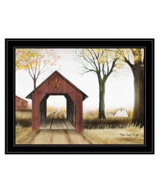 Buck County Bridge by Billy Jacobs, Ready to hang Framed Print, Black Frame, 27