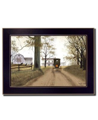 Headin' Home By Billy Jacobs, Printed Wall Art, Ready to hang, Black Frame, 14