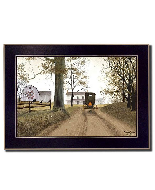 "Trendy Decor 4U Headin' Home By Billy Jacobs, Printed Wall Art, Ready to hang, Black Frame, 14"" x 10"""