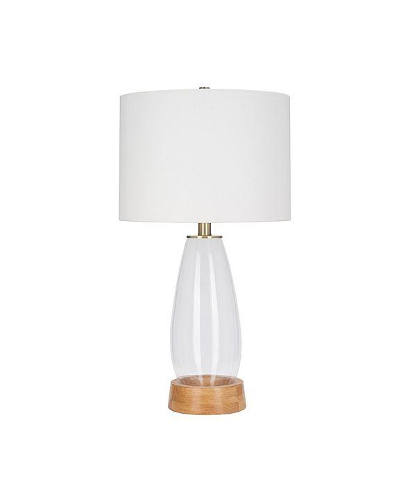 Catalina Lighting JAlexander Lighting Felix Natural Glass Table Lamp