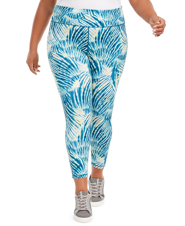 Ideology - Plus Size Tropical Print Pull-On Leggings
