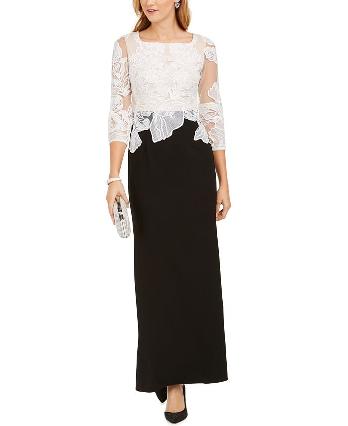 Adrianna Papell - Floral Embroidered Gown