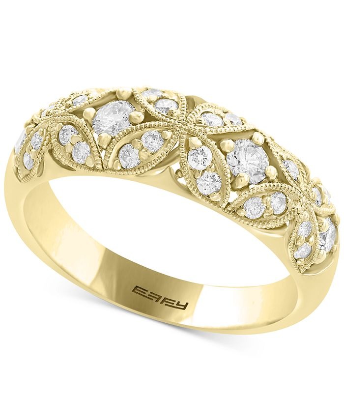 EFFY Collection - Diamond Filigree Band (1/2 ct. t.w.) in 14k Gold