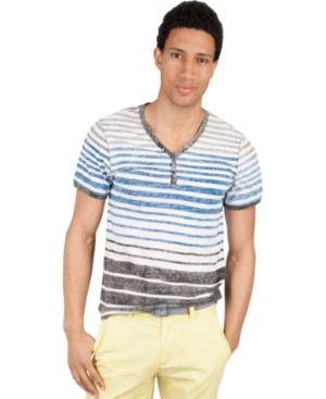Marc Ecko Cut  Sew Shirt Cerebellum Henley Shirt
