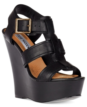 Steve Madden Womens Shoes Wanting Platform Wedge Sandals Womens Shoes