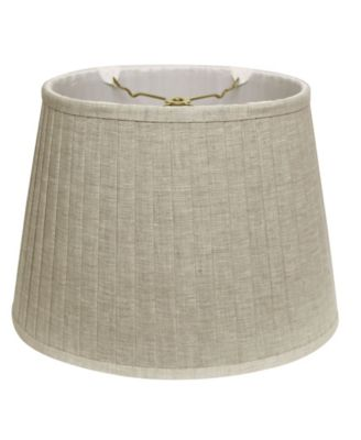 Cloth&Wire Slant Linen Oval Side Pleat Softback Lampshade with Washer Fitter