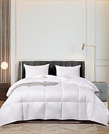 Ultra-Soft Nano-Touch Light Warmth White Down Fiber Comforter, Twin