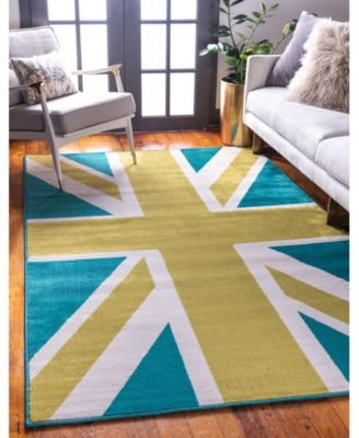 Union Jane Jso005 Green 9' x 12' Area Rug