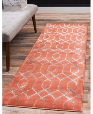 Glam Mmg001 Coral/Silver 4' x 6' Area Rug