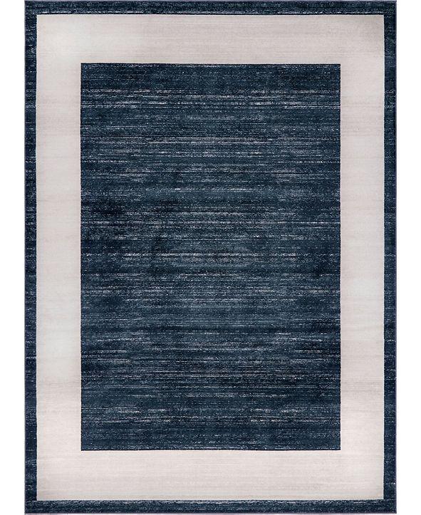 Jill Zarin Yorkville Uptown Jzu007 Navy Blue 9' x 12' Area Rug