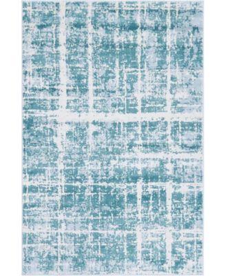 Lexington Avenue Uptown Jzu003 Turquoise 9' x 12' Area Rug