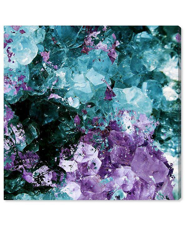 "Oliver Gal Amethyst Love Canvas Art, 12"" x 12"""