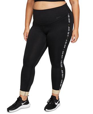 Nike Plus Size One 7 8 Length Training Tights Reviews Pants Leggings Plus Sizes Macy S