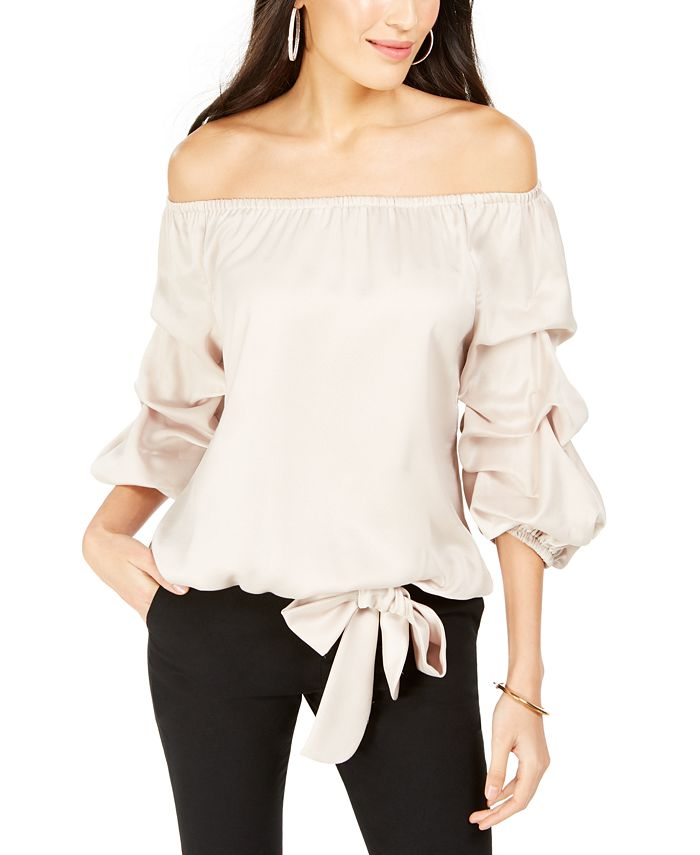 MSK - Off-The-Shoulder Bow-Hem Top