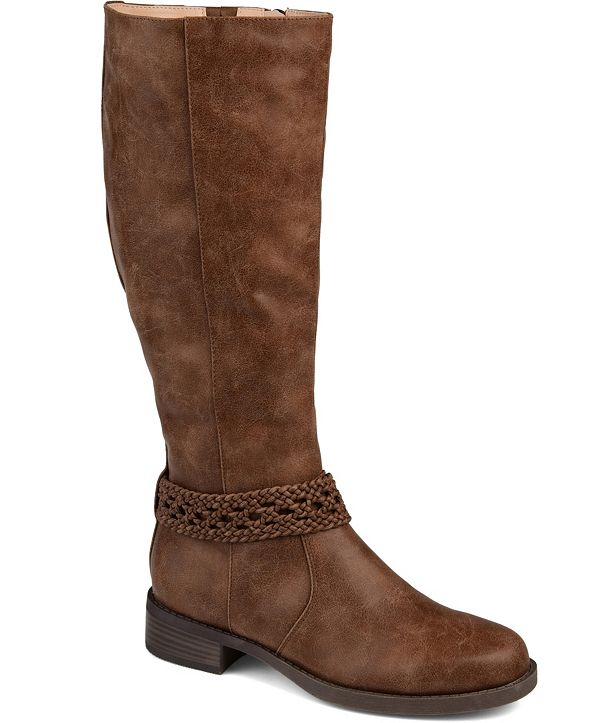 Journee Collection Women's Extra Wide Calf Paisley Boot