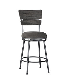 Hillsdale Melange Wood Back Swivel Counter Height Stool