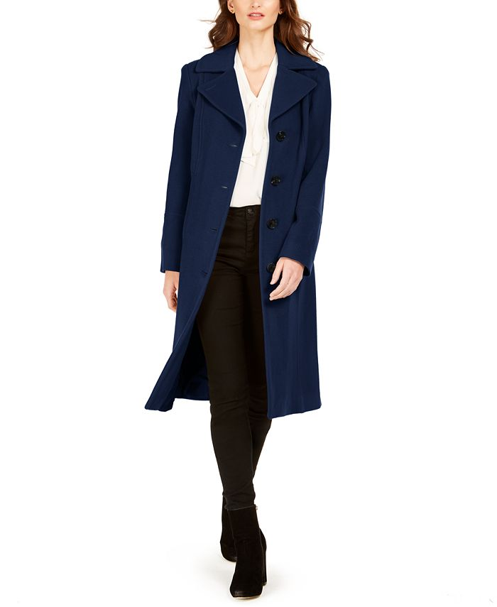Anne Klein - Single-Breasted Midi Coat