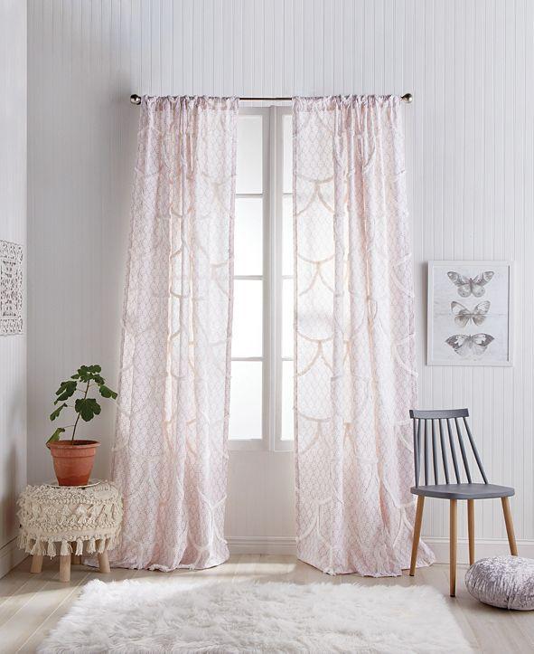 """Peri Home Chenille Scallop 50""""x84"""" Backtab Window Panel"""