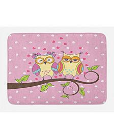 Ambesonne Owls Bath Mat