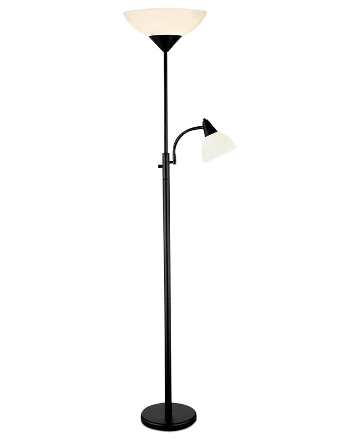 Adesso - Piedmont Black Floor Lamp