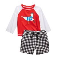 First Impressions Baby Boys 2-Pc. Seagull Rash Guard & Swim Set