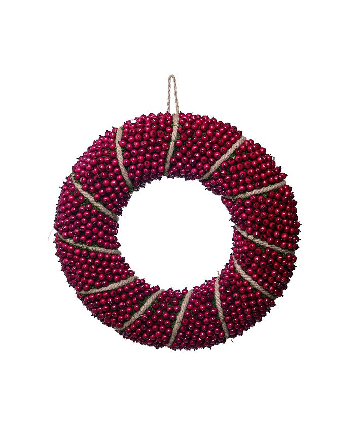 """Trans Pac - Foam 20"""" Red Christmas Berry Wreath"""