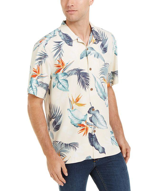 Tommy Bahama Men's Bird's Eye View Classic-Fit Tropical Print Silk Camp Shirt