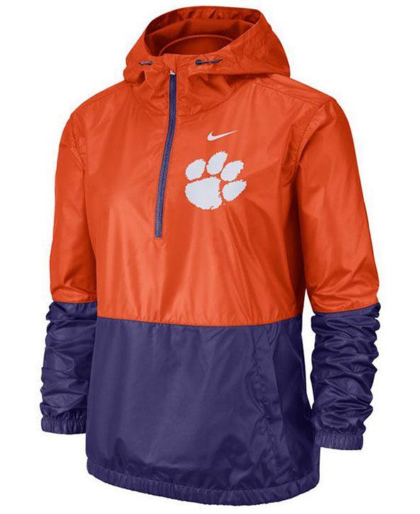 Nike Women's Clemson Tigers Half-Zip Jacket