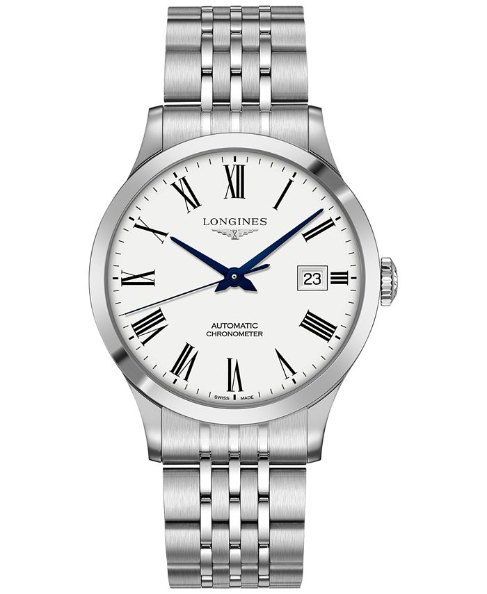 Longines - Men's Swiss Automatic Record Collection Stainless Steel Bracelet Watch 40mm