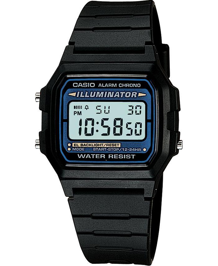 Casio - Unisex Digital Black Resin Strap Watch 35mm