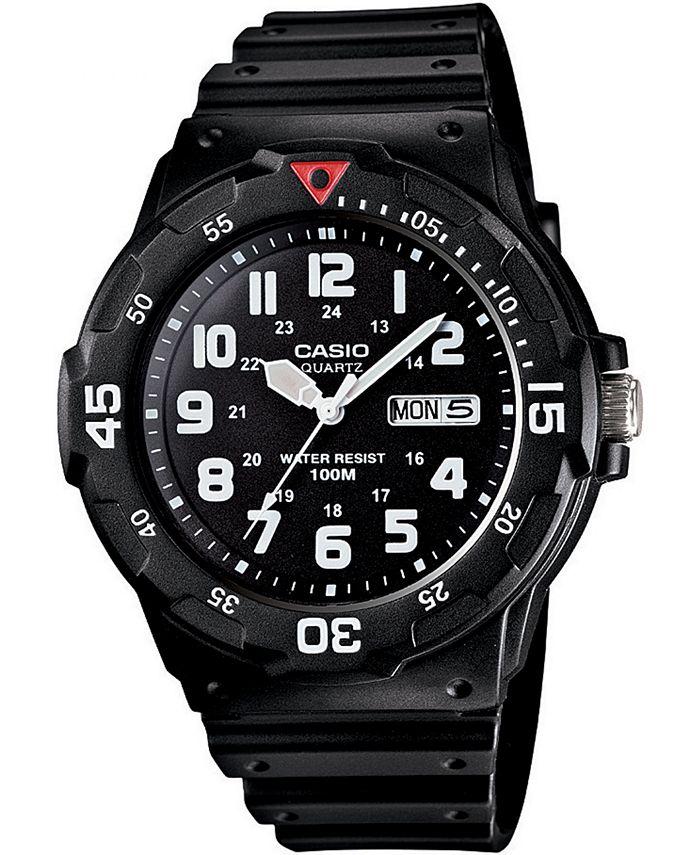 Casio - Men's Black Resin Strap Watch 43mm