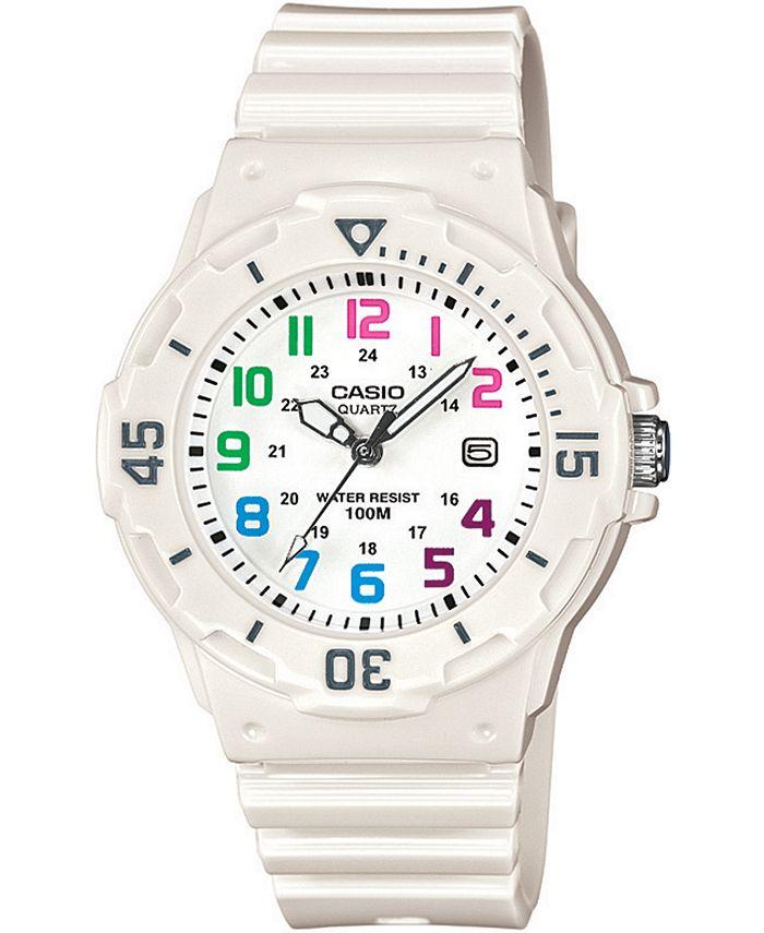 Casio - Women's White Resin Strap Watch 34mm