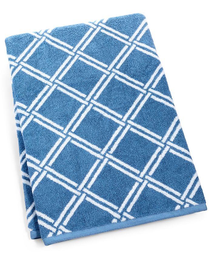 "Charter Club - Elite Cotton Lattice 30"" x 56"" Bath Towel"