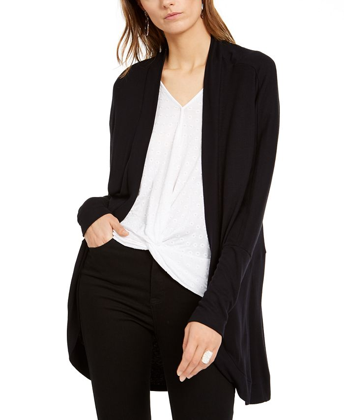INC International Concepts - Petite Dolman-Sleeve Open-Front Cardigan