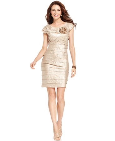 London Times Dress Rosette Cocktail Dress Dresses