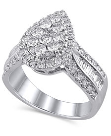 Certified Diamond (1-1/2 ct. t.w.) Engagement Ring in 14K White Gold