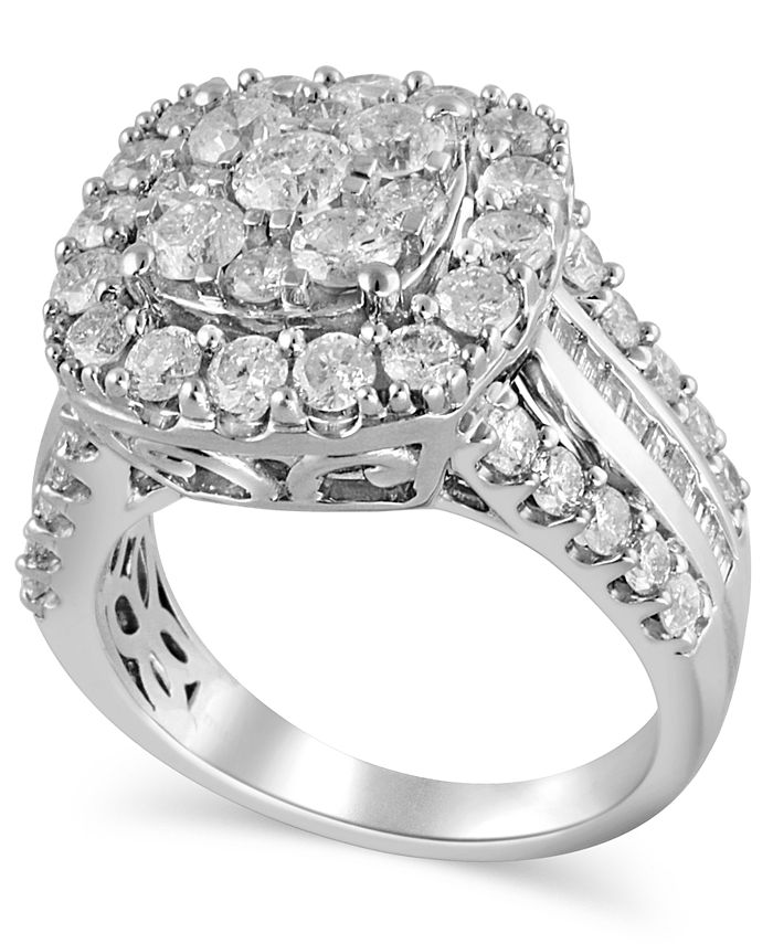 Macy's - Certified Diamond (3 ct.t.w.) Engagment Ring in 14k White Gold