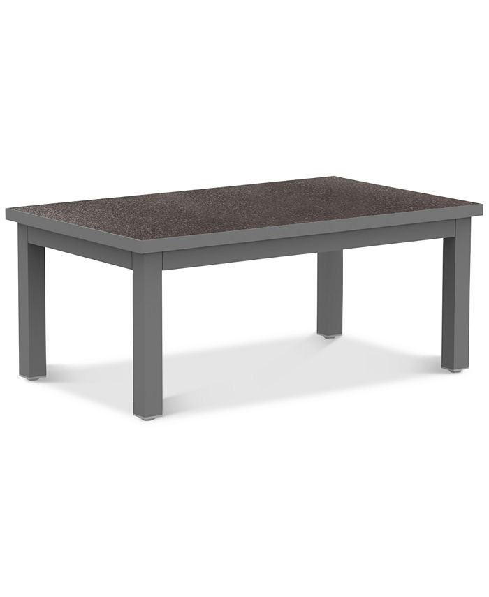 "Furniture - Carleese 44"" x 24"" Rectangle Outdoor Coffee Table with Cal Sil Top"