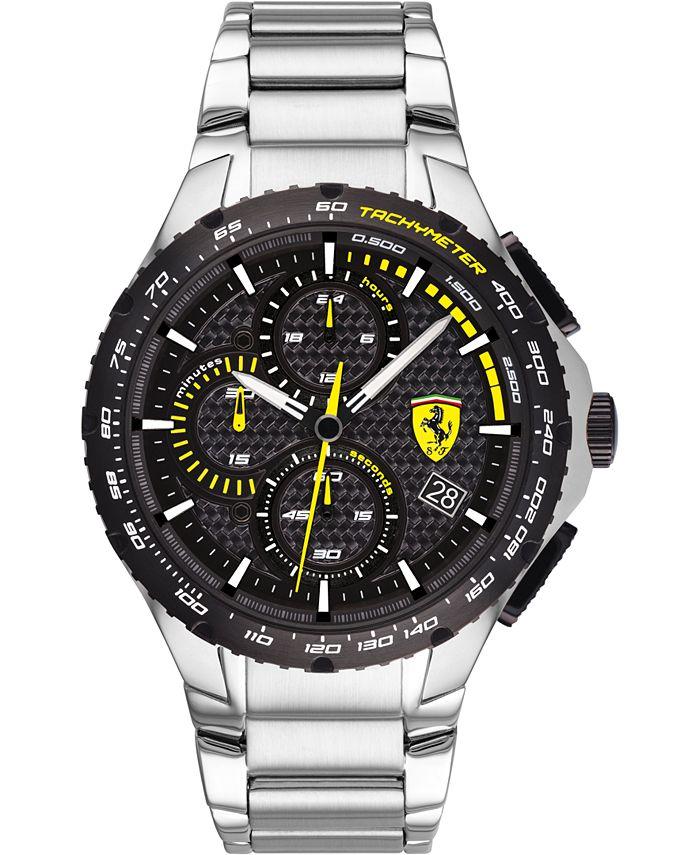 Ferrari - Men's Chronograph Pista Stainless Steel Bracelet Watch 44mm