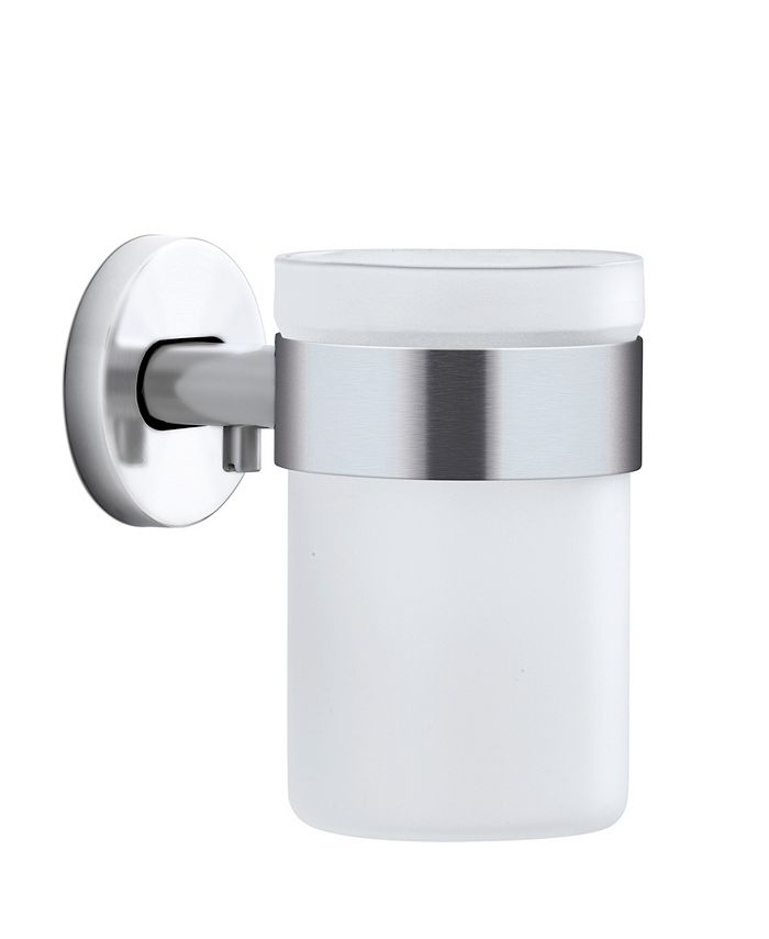 blomus - Wall Mounted Toothbrush Holder Frosted Glass