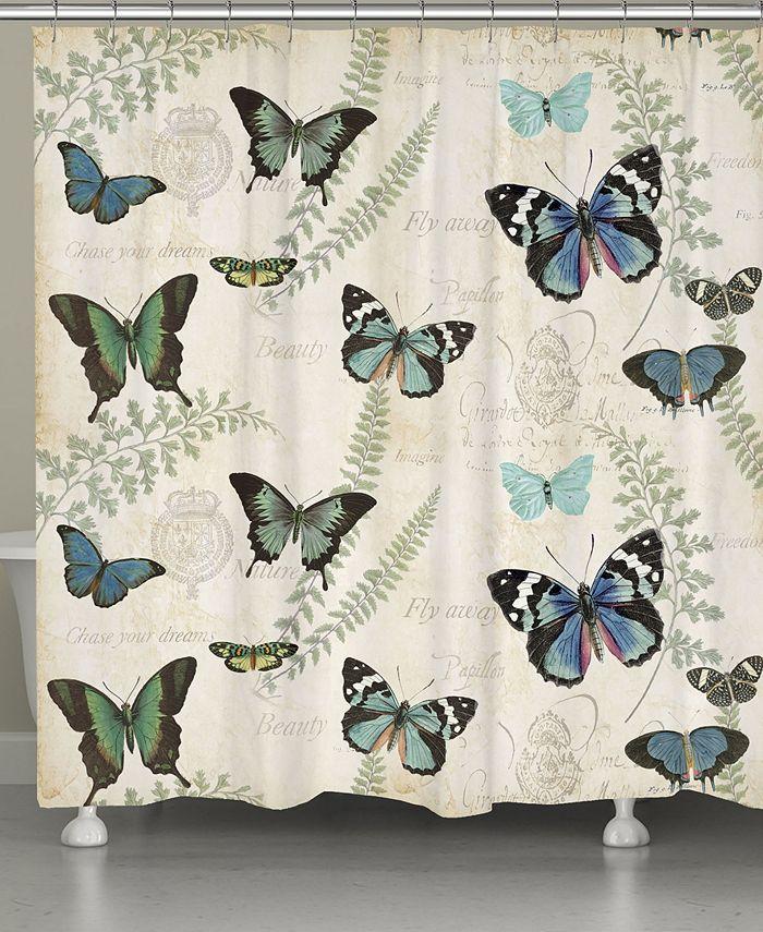 Laural Home - Flutters Fern Shower Curtain