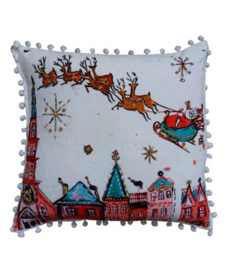 Christmas Santa Ride Pillow Cover