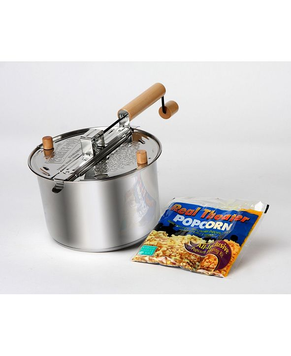 Wabash Valley Farms Stainless Steel Whirley-Pop Popcorn Popper