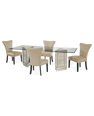 sophia dining room furniture 5 piece set 96 table and 4 side chairs