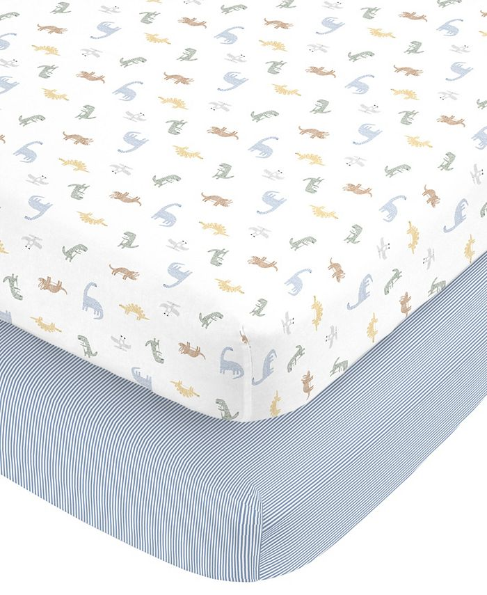 Carter's - Cotton Sateen Fitted Crib Sheet 2-Pack